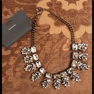 Express rhinestone and pearl necklace new